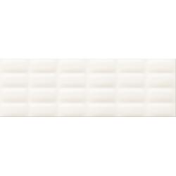 White glossy Pillow struktura 25x75 sienų plytelė