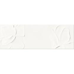Structure Pattern white Flower Str. 25x75 sienų plytelė