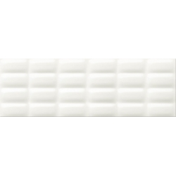 White Magic white glossy pillow 25x75 sienų plytelė