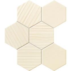 Horizon ivory hex 28,9x22,1 mozaika
