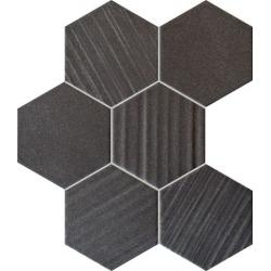 Horizon black hex 28,9x22,1 mozaika