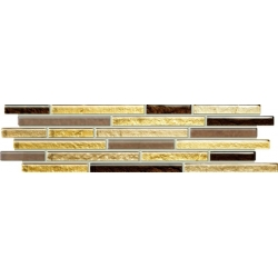 Venatello brown mosaic 9,8x32,7 juosta