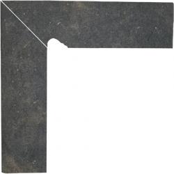 Scandiano brown grindjuostė kairė 8x30 klinkerinė plytelė