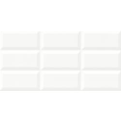 Naris PS604 white glossy structure 29,7x60 sienų plytelė