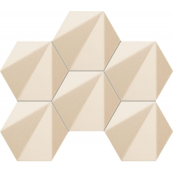 Chenille beige hex 22,1x28,9 mozaika