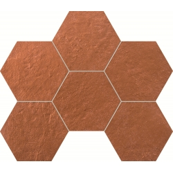 Crude hex copper 289 х 221  mozaika