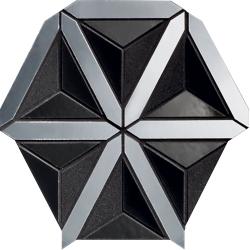 Lucid black 20,5x18,6   mozaika