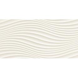 Satini white wave STR , x 59,8  sienų plytelė