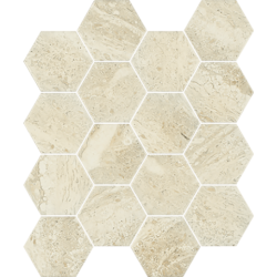 Sunlight Stone Beige Hexagon 22x25,5  mozaika