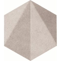 Free Space hex grey STR 11,0 x 12,5  dekoratyvinė plytelė