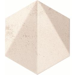 Free Space hex white STR 11,0 x 12,5  dekoratyvinė plytelė