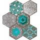 Lace absinthe 28,9x22,1  mozaika