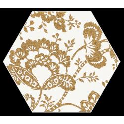 Shiny Lines Gold Heksagon Inserto C 19.8 x 17.1 dekoratyvinė plytelė