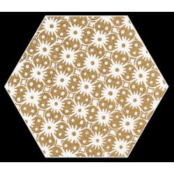Shiny Lines Gold Heksagon Inserto D 1 19.8 x 17.1  dekoratyvinė plytelė