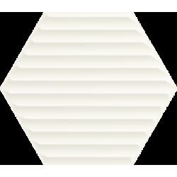 Woodskin Bianco Heksagon Struktura B 19.8 x 17.1  sienų plytelė