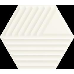 Woodskin Bianco Heksagon Struktura C 19.8 x 17.1 sienų plytelė