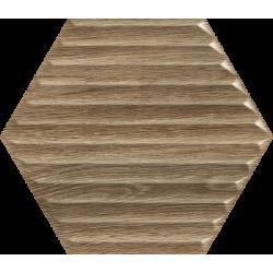 Woodskin Wood Heksagon Struktura B 19.8 x 17.1  sienų plytelė