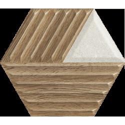 Woodskin Mix Heksagon Struktura C 19.8 x 17.1  sienų plytelė