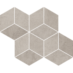 Pure City Grys Prasowana Romb Hexagon 20.4 x 23.8  mozaika