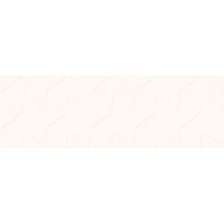 Love You White Structure Satin 29x89  sienų plytelė