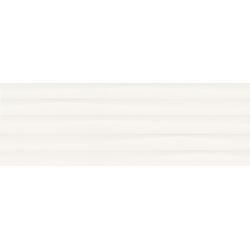 Selina White Structure Shiny Micro 39,8 x 119,8  sienų plytelė