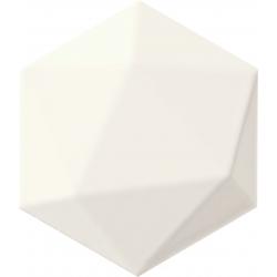 Origami white hex 11x12,5  sienų plytelė
