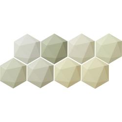 Origami green hex 11x12,5  sienų plytelė