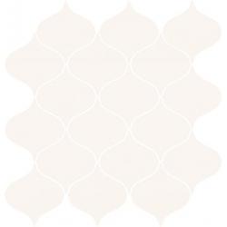 Ocean Romance White Mosaic Satin 28,1 x 29,3  mozaika