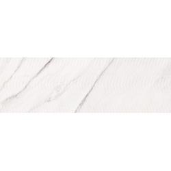 Carrara Chic White Chevron Structure Glossy  29x89  sienų plytelė