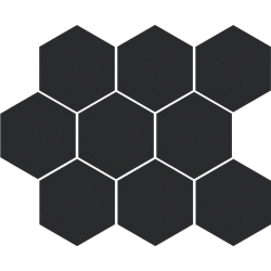 Cambia black lappato heksagon 27,53x33,4 mozaika