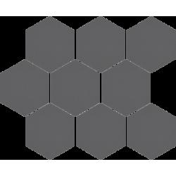 Cambia grafit lappato heksagon 27,53x33,4 mozaika