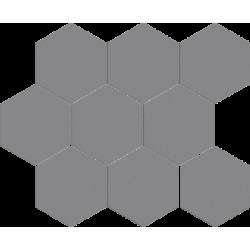Cambia gris lappato heksagon 27,53x33,4 mozaika
