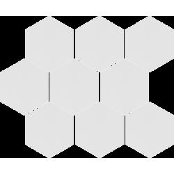 Cambia heksagon white lappato 27,53x33,4 mozaika