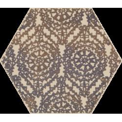 Glitter Mood Blue Heksagon Inserto A 19.8 x 17.1 dekoratyvinė plytelė