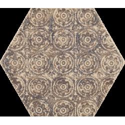 Glitter Mood Blue Heksagon Inserto C 19.8 x 17.1 dekoratyvinė plytelė