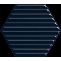 Intense Tone Blue Heksagon Struktura B Ściana 19.8 x 17.1  sienų plytelė