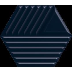 Intense Tone Blue Heksagon Struktura C Ściana 19.8 x 17.1  sienų plytelė