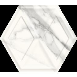 Morning Bianco Heksagon Struktura Połysk 19.8 x 17.1 sienų plytelė