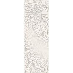 Ray Silver Inserto  25x75 dekoratyvinė plytelė