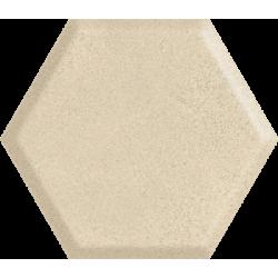 Serene Beige Heksagon Struktura Ściana  19.8 x 17.1 sienų plytelė