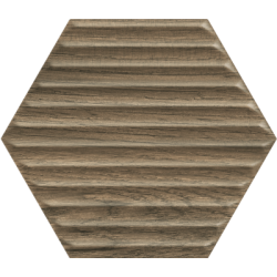 Serene Brown Heksagon Struktura Ściana 19.8 x 17.1  sienų plytelė