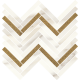Calacatta Sparkle Gold Mozaika Cięta Połysk  29.8 x 89.8 mozaika