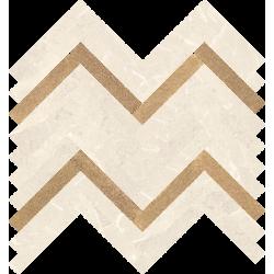 Stone Matter Beige Mozaika Cięta Połysk 28.1 x 30.1 mozaika