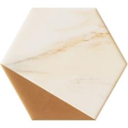 Flare gold hex 12,5x11  dekoratyvinė plytelė