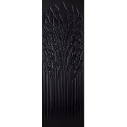 Cold Crown Black Ściana Struktura Rekt. 39.8 x 119.8 sienų plytelė