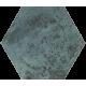 Unique Lady Green Inserto Szklane Heksagon 19.8 x 17.1 dekoratyvinė plytelė