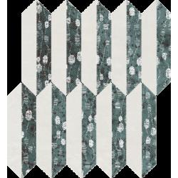 Unique Lady Green Mozaika Cięta Mix Mat 29.8 x 27.4