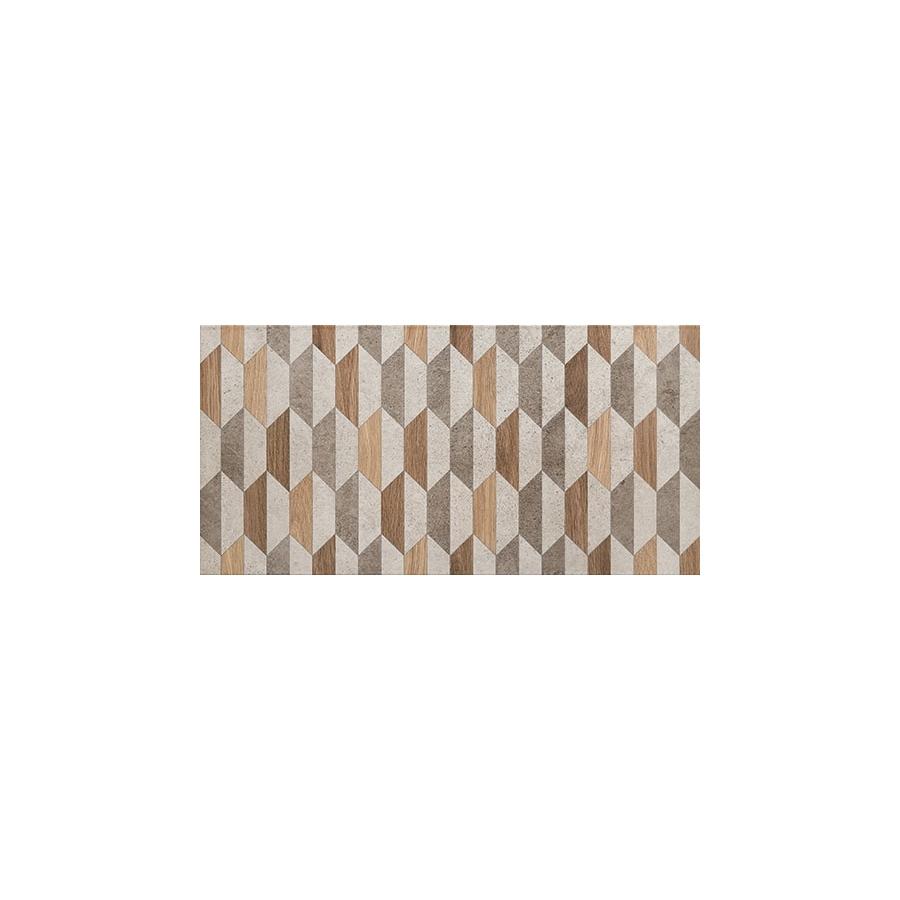 Dover graphite Geo 60,8x30,8 plytelė dekoratyvinė