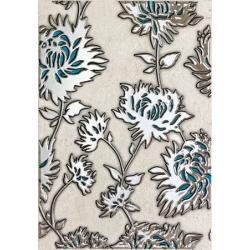 Gris Flower turkus 25x36 plytelė dekoratyvinė