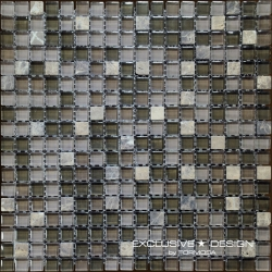 Glass & Stone mosaic 8 mm No.6 A-MMX08-XX-006 30x30